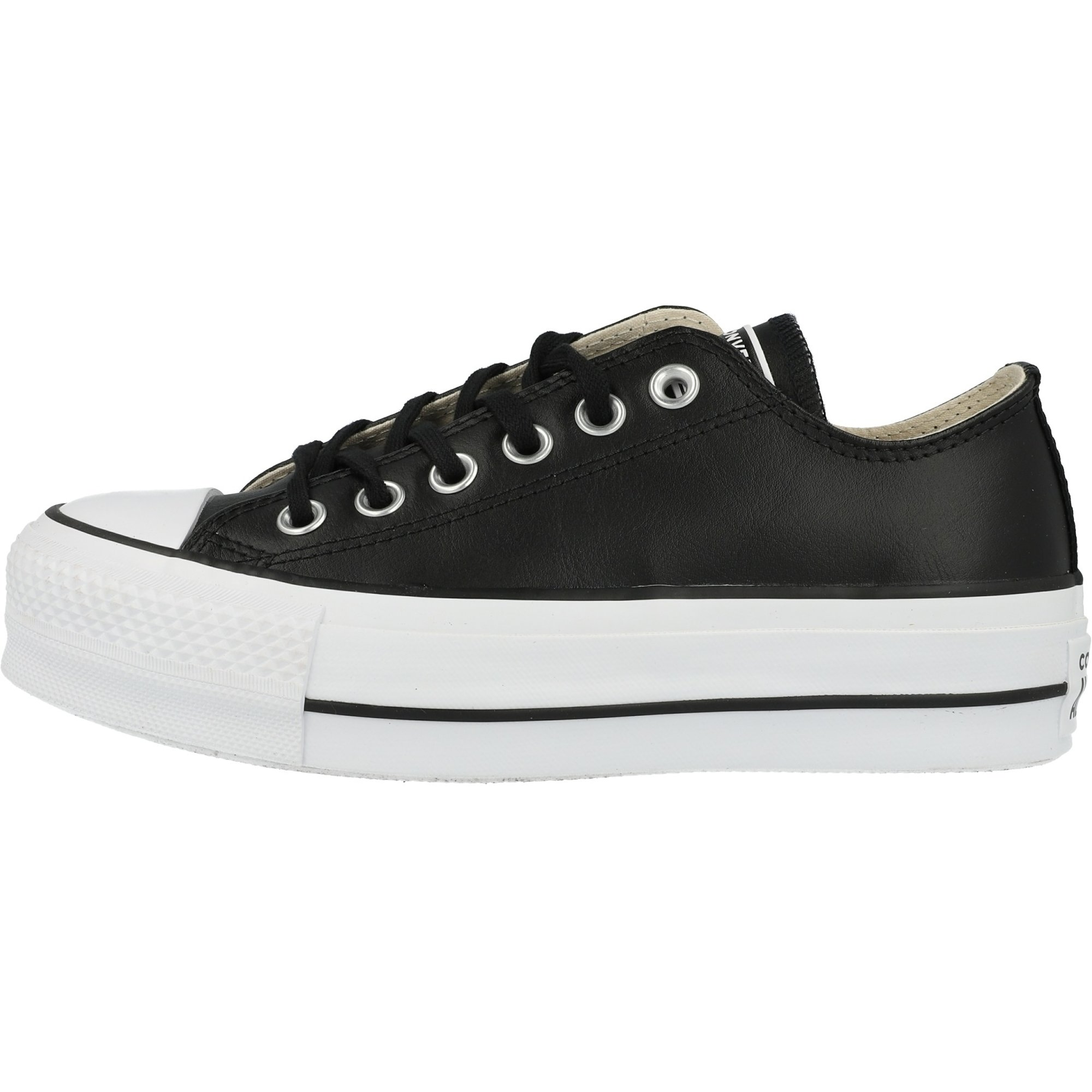 Converse Converse Chuck Taylor All Star Lift Clean Ox Black/White Leather  Adult