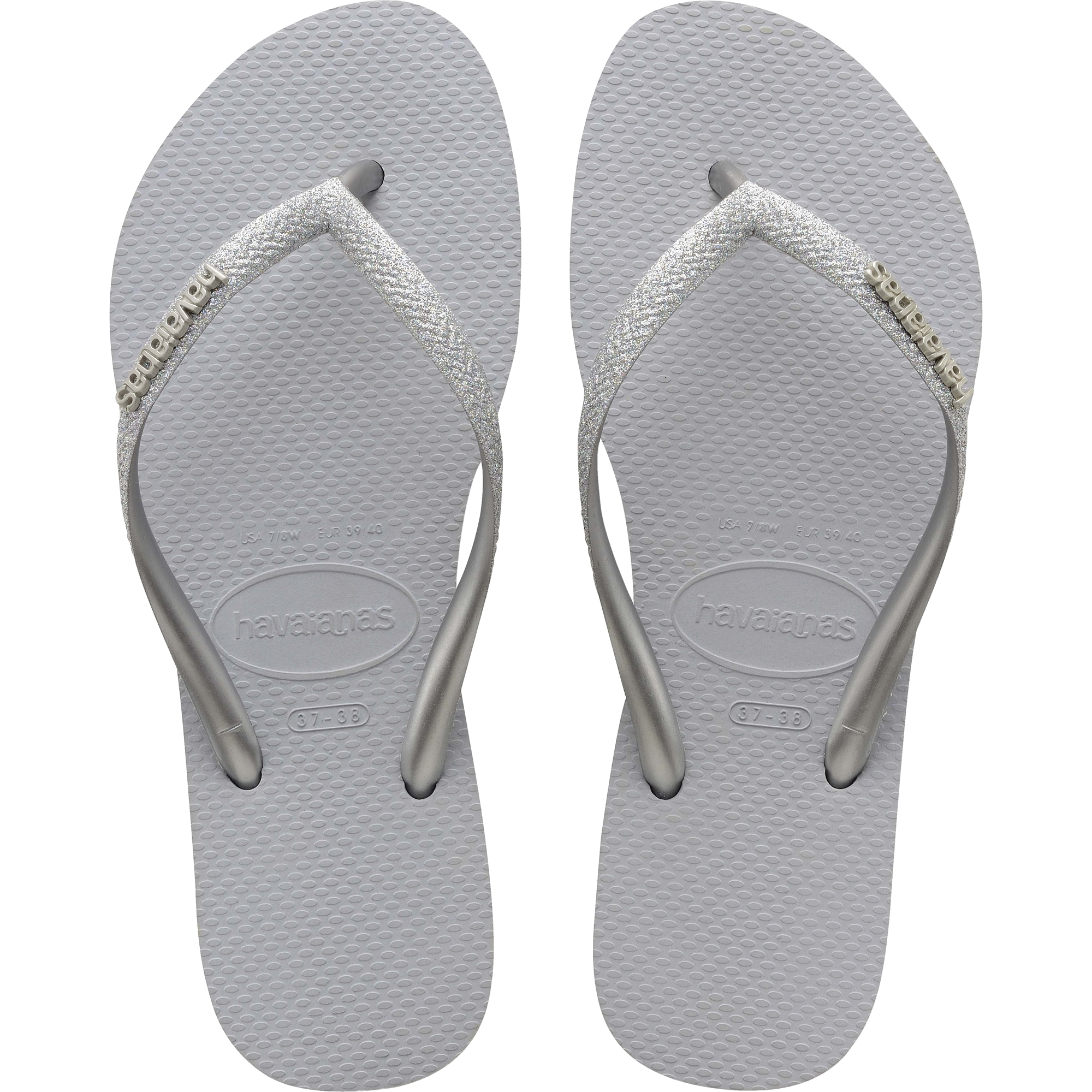 Havaianas Slim Glitter Steel Grey Rubber Adult