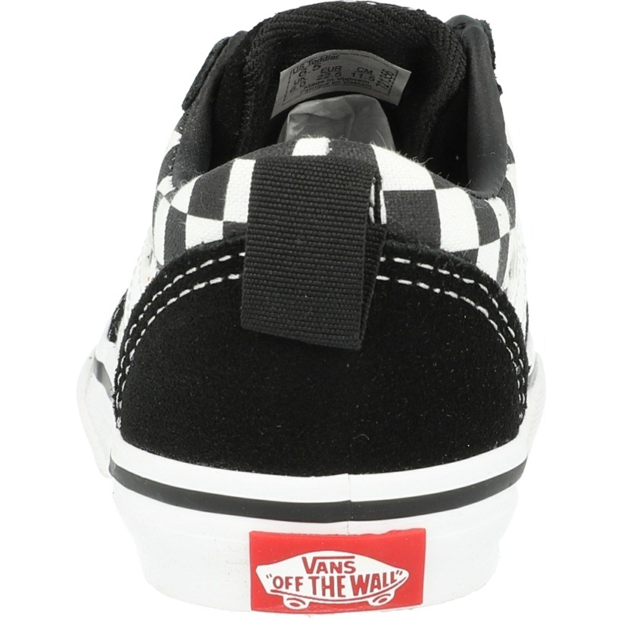 Vans Active TD Ward Slip-On Black Checkered Suede Infant