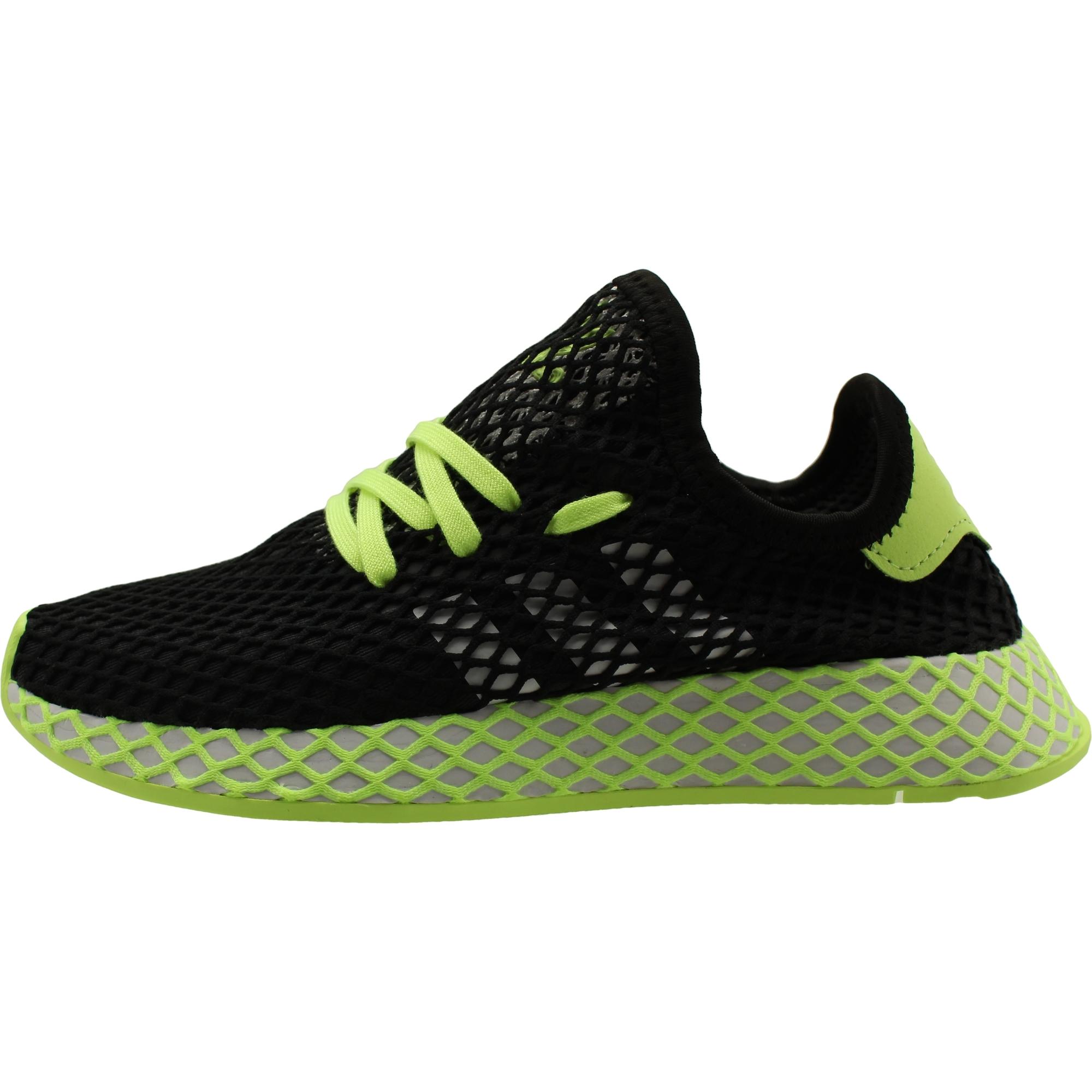 buying now latest discount wholesale outlet adidas Originals Deerupt Runner J Noir/Salut Res Jaune Engrener Jeunesse