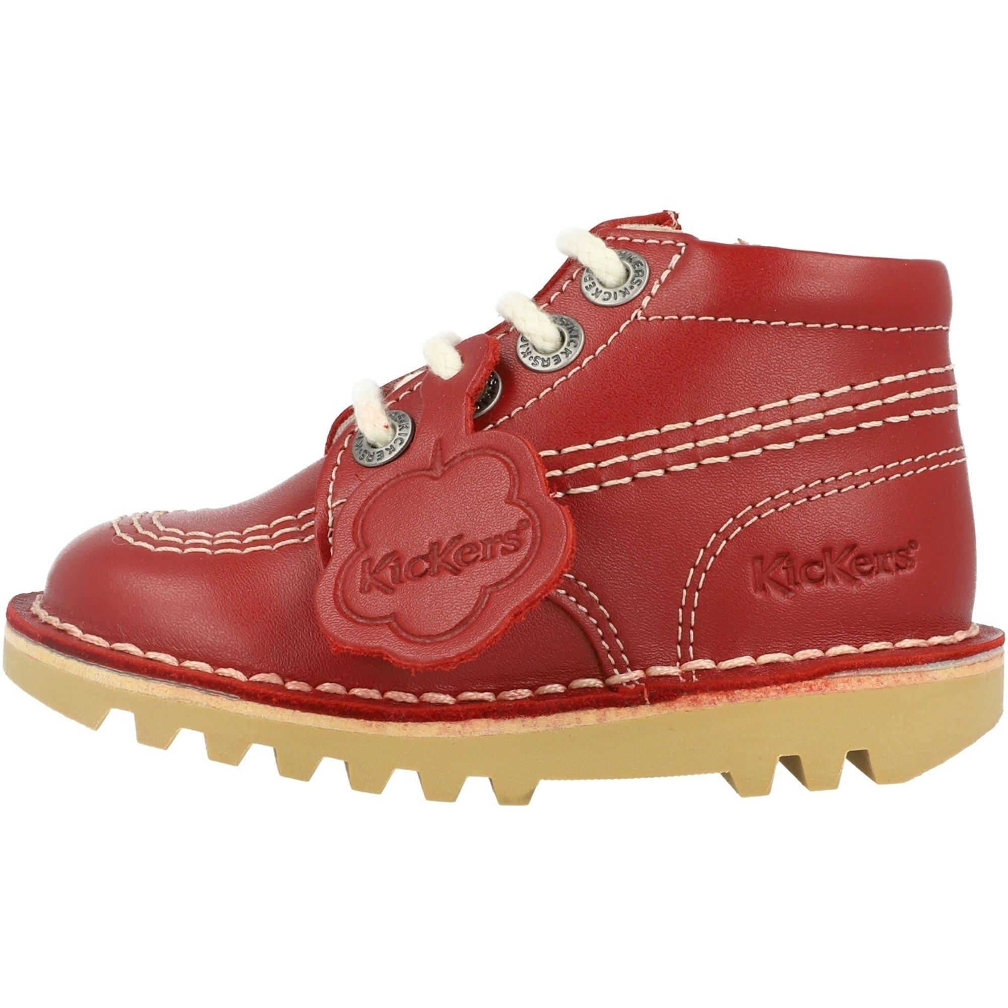 Kickers Kick Hi Zip I Red Leather
