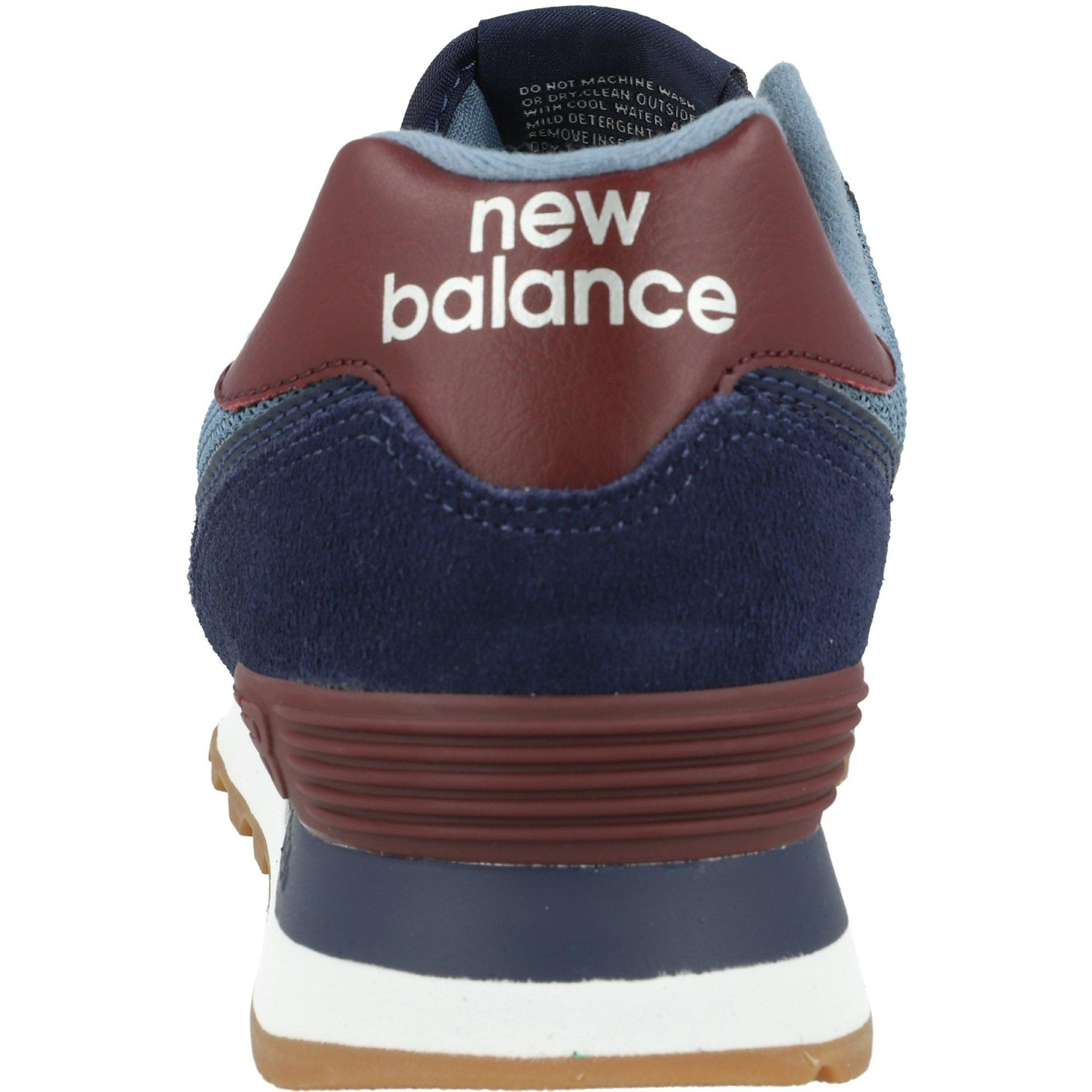 new balance 574 donna burgundy