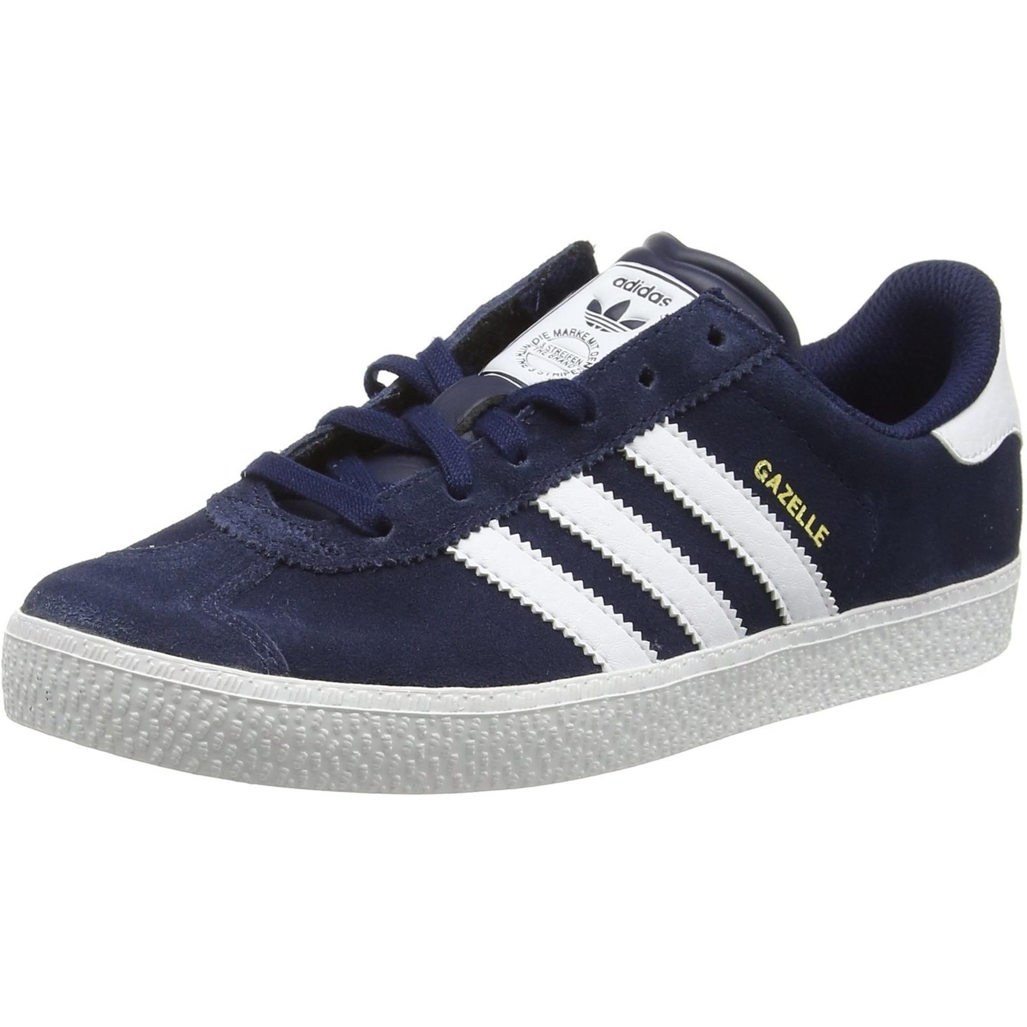 adidas Originals Gazelle 2 J Royal Blue Suede Youth Trainers Shoes